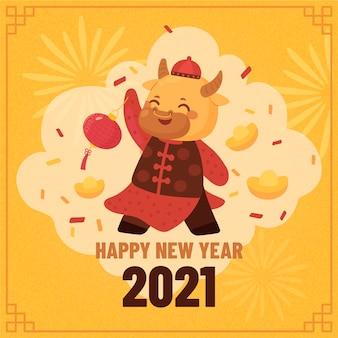 Kolorowy chiński nowy rok 2021
