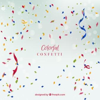 Kolorowy confetti tło w realistycznym stylu