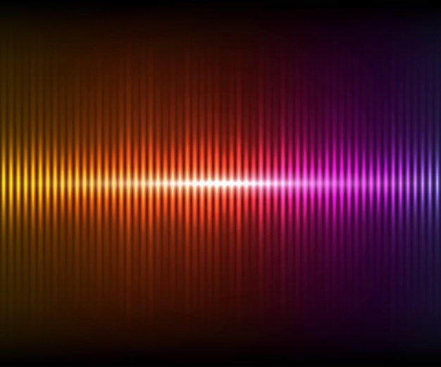 Kolorowy cyfrowy błyszczący korektor. ilustracja wektorowa z efektami świetlnymi na ciemnym tle