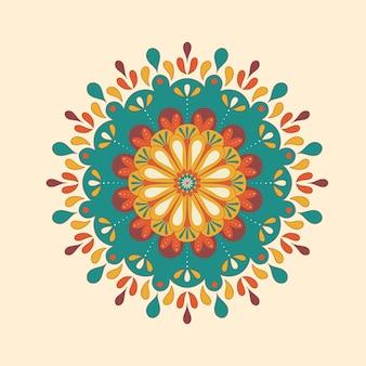 Kolorowy dekoracyjny mandala