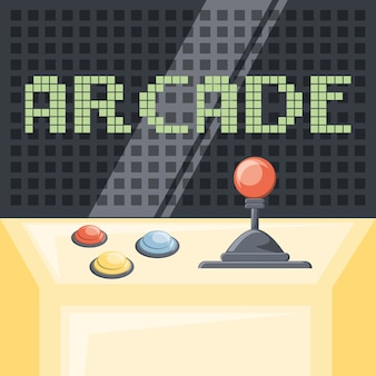 Kolorowy design zręcznościowej gry wideo