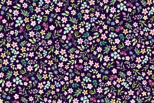 Kolorowy ditsy kwiatowy wzór tła. tle kwiatów z małymi kwiatami.