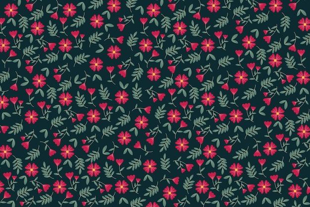 Kolorowy ditsy kwiatowy wzór tła wydruku