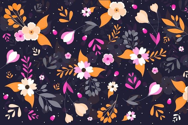 Kolorowy ditsy kwiatowy wzór tła