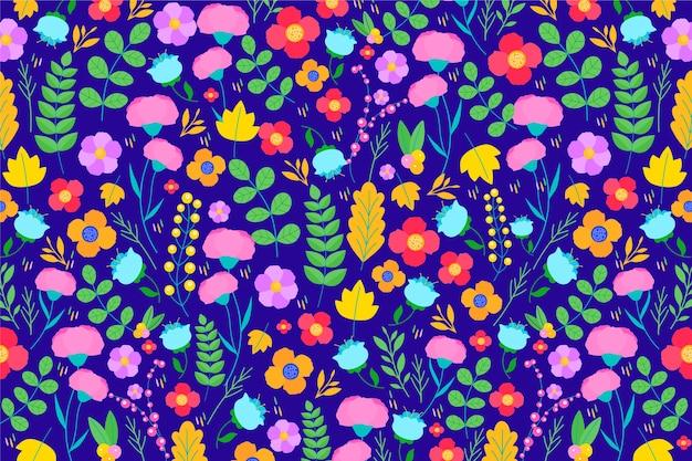 Kolorowy ditsy kwitnie tło