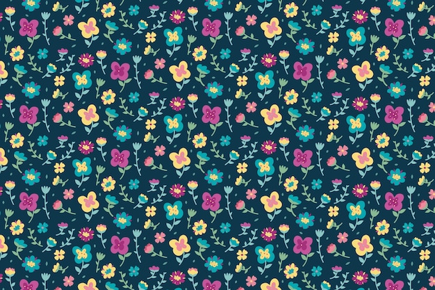 Kolorowy ditsy tle kwiatów