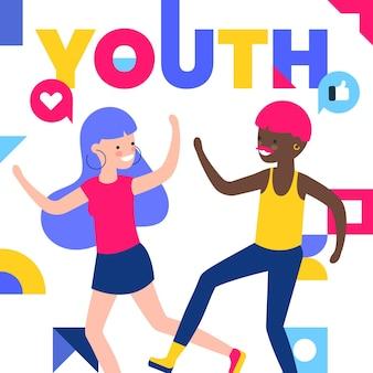 Kolorowy dzień młodzieży z ludźmi