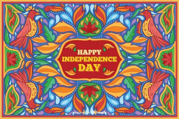 Kolorowy dzień niepodległości indii tło
