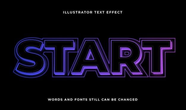 Kolorowy edytowalny nowoczesny tekst z efektem świetlnym
