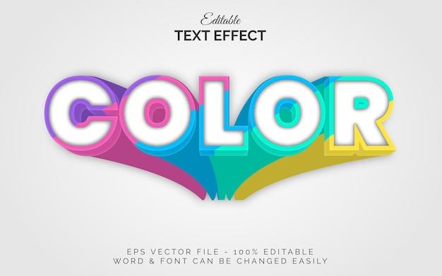 Kolorowy efekt tekstowy w stylu długiego cienia edytowalny efekt tekstowy kolorowy motyw