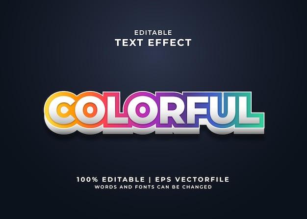 Kolorowy efekt tekstu w stylu