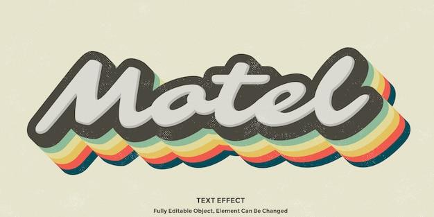 Kolorowy efekt vintage 3d tekst