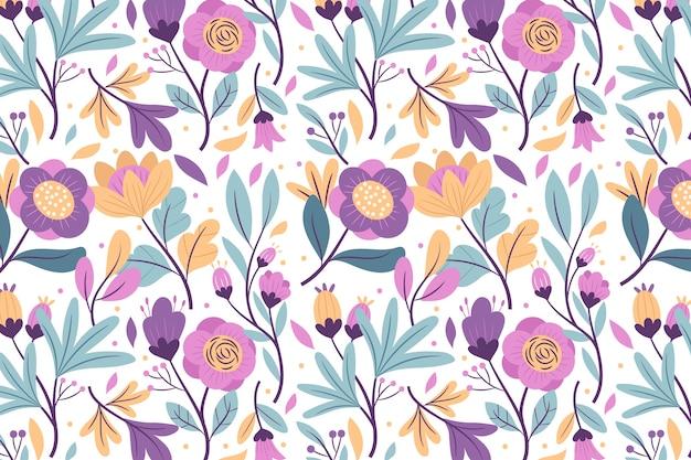 Kolorowy egzotyczny kwiatowy wygaszacz ekranu