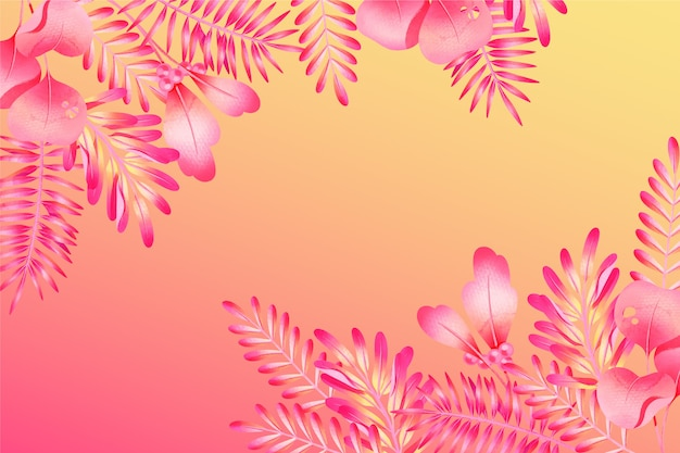 Kolorowy egzotyczny tropikalny liścia tło