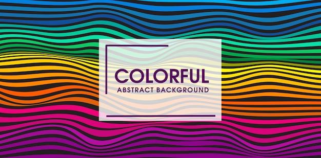 Kolorowy fala bezszwowe tło wektor wzór