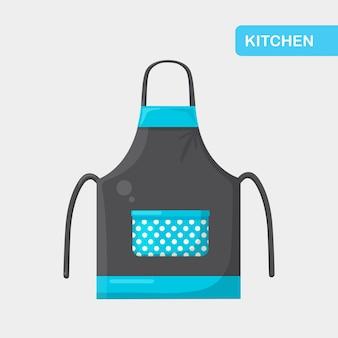 Kolorowy fartuch kuchenny. odzież ochronna. sukienka do gotowania dla gospodyni domowej lub szefa kuchni restauracji
