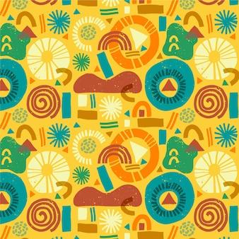 Kolorowy festiwal holi wzór kultury indyjskiej