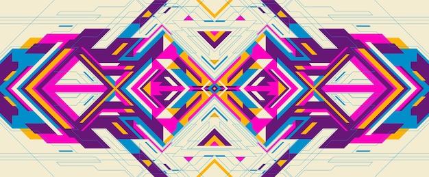 Kolorowy futurystyczny projekt tła