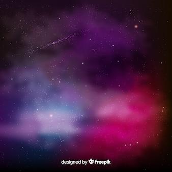 Kolorowy galaktyki tło z realistycznym projektem