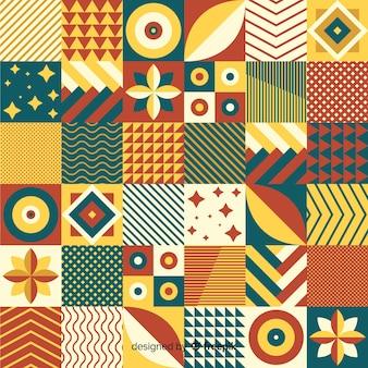 Kolorowy geometryczny mozaiki płytki tło