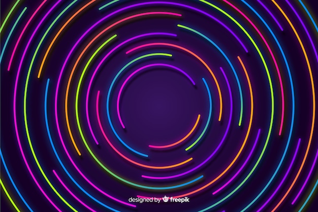 Kolorowy geometryczny neonowy kształtów tło