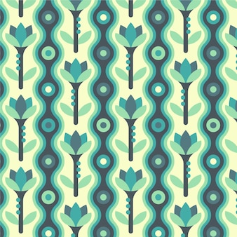 Kolorowy geometryczny wzór groovy