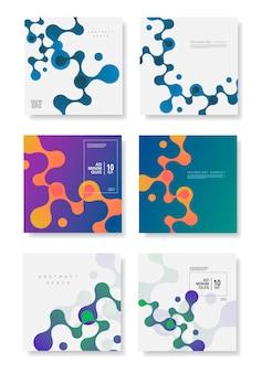 Kolorowy geometryczny wzór tła z kompozycją płynnych kształtów.