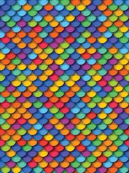 Kolorowy geometryczny wzór z papieru wyciąć realistyczne okrągłe elementy