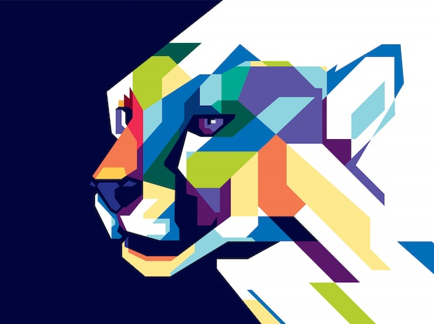 Kolorowy gepard