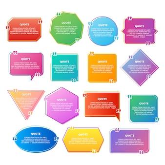 Kolorowy gradient cytat
