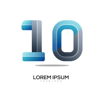 Kolorowy gradient logo numer 10