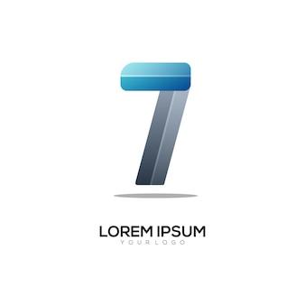 Kolorowy gradient logo numer 7