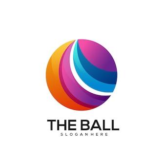 Kolorowy gradient logo piłki