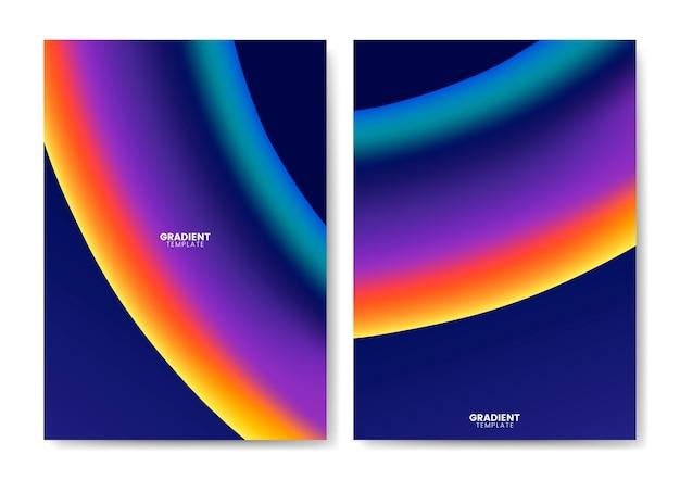 Kolorowy gradient szablon projektu tapety
