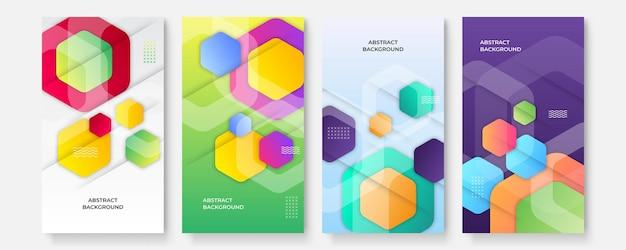 Kolorowy gradient wzór geometryczny tekstura tło dla projektu okładki plakatu. minimalny kolor streszczenie szablon transparent gradientu. nowoczesny kształt fali wektorowej dla szablonu broszury i mediów społecznościowych