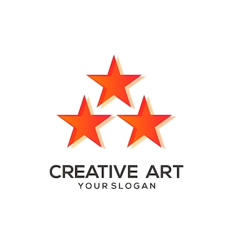 Kolorowy gradient z gwiazdą logo