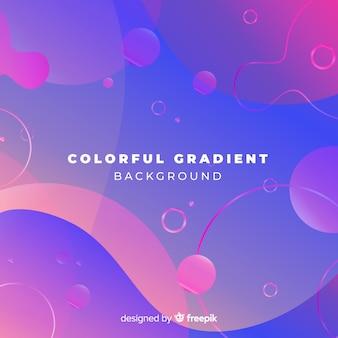 Kolorowy gradiente tło