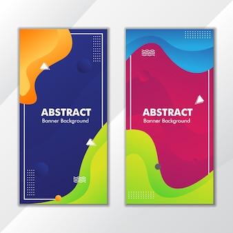 Kolorowy gradientowy baner abstraktowy