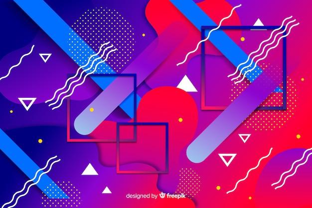 Kolorowy gradientowy modeli geometrycznych tło