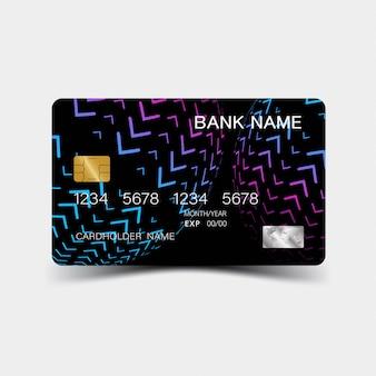Kolorowy gradientowy szablon karty kredytowej.