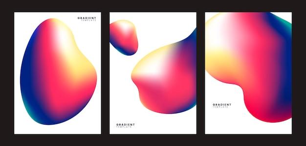 Kolorowy gradientowy szablonu tła projekt