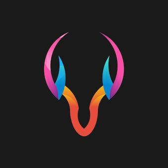 Kolorowy gradientowy wzór jelenia linii