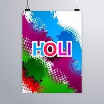 Kolorowy holi festiwal broszura
