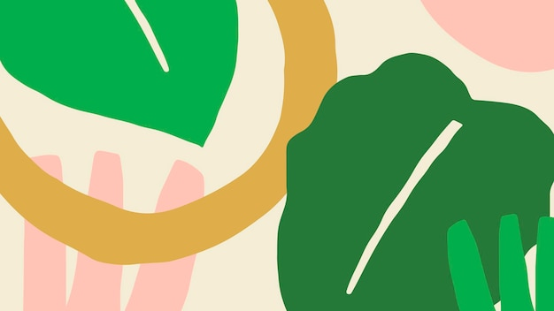 Kolorowy i jasny baner w tropikalny wzór