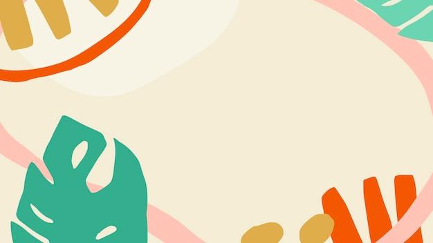 Kolorowy i jasny tropikalny wzorzysty baner