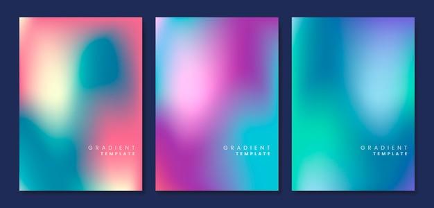 Kolorowy i niewyraźne szablon gradientu