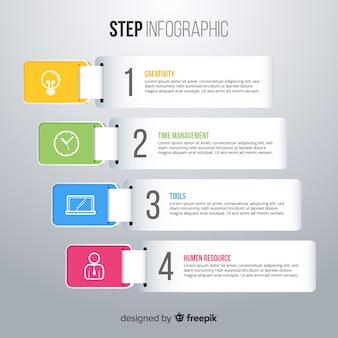 Kolorowy infographic szablon z krokami