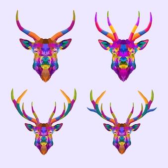 Kolorowy jeleń