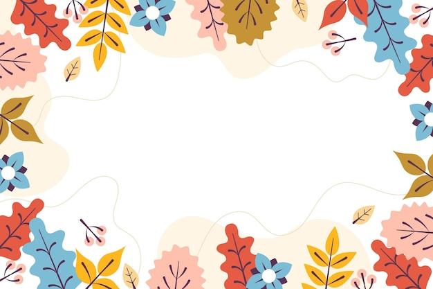 Kolorowy jesień liści tło z pustą przestrzenią