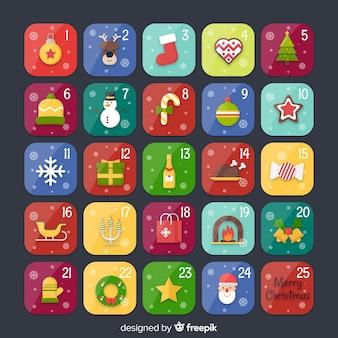 Kolorowy kalendarz adwentowy
